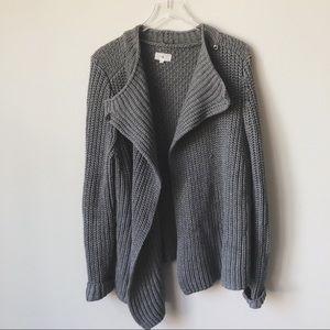 Lou & Grey Chunky Knit Gray Cardigan